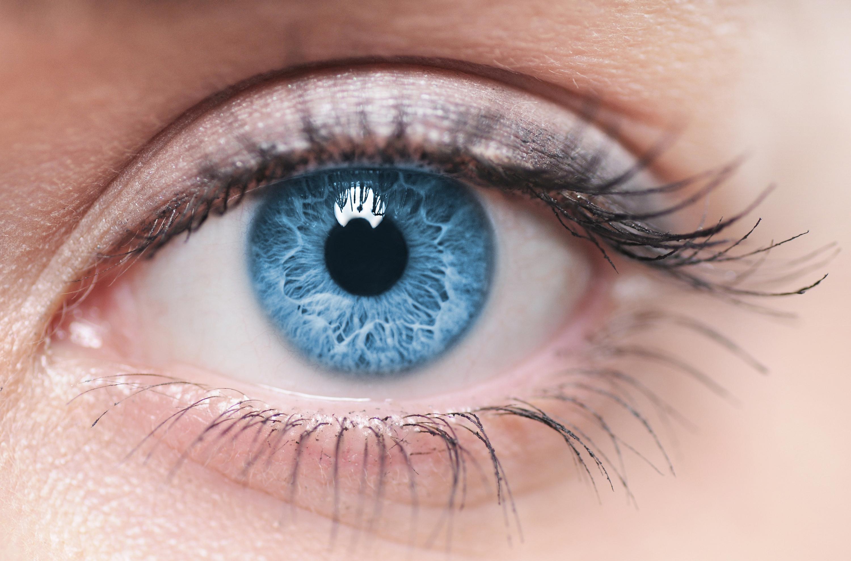 blauw en groen oog